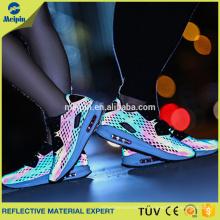Matériel réfléchissant de maille haute visibilité pour des chaussures
