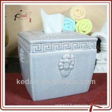 Couvercle de boîte de tissu décoratif