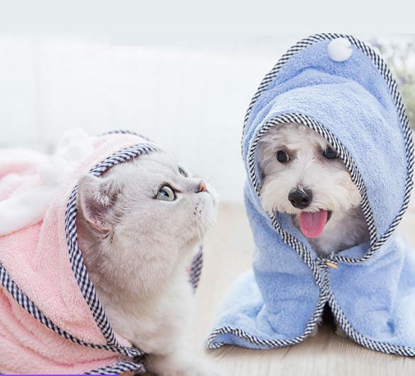 Cotton Soft Cozy Pet Dog Bathrobe