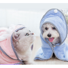 Cotton soft cozy pet dog bathrobe