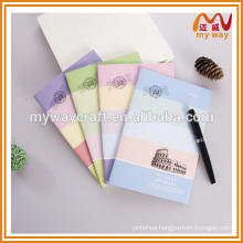Ultra-thin student notebook with colorful cover, cute school supplies