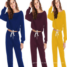 Womens Tracksuit Set Athletic Solid Outdoor