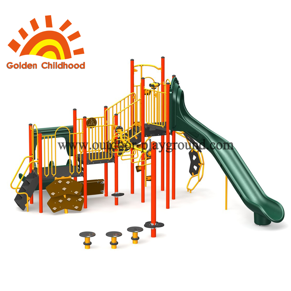 Orange And Green Outdoor Playground Fit
