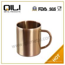 tazas de cobre tazas de cobrizado de acero inoxidable 450ml mula de Moscú