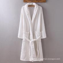 100% Polyester Coral Fleece Plush Robe