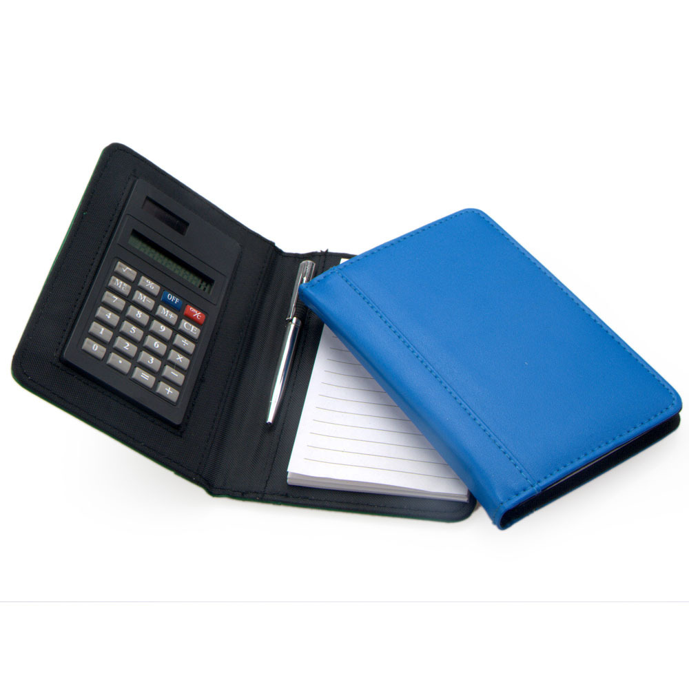 small personal notebook calculator with pen two ways power
