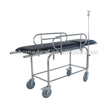 Stainless steel Double - folding Stretcher trolley