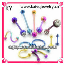 Best seller 100pcs 10styles wholesale colorful surgical steel lots body jewelry
