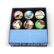 Customized pretty crystal glass fridge magnet for souvenir and promotion