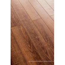 Commercial 8.3mm E1 HDF Embossed Walnut U-Grooved Laminate Flooring
