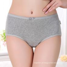 Simple Deisgn cintura alta calcinha jovem garotas roupa interior feminina algodão respirável mulheres sólidas calcinha