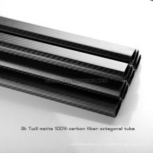 Tubo de la fibra de carbono del octágono de 20x30x500m m para Multicopter, tubos doblados deporte al aire libre del carbono