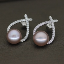 9-10mm AA Quality Freshwater Cultured Pearl Earring Pair