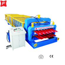 Color+Metal+Sheet+Roof+double+roll+forming+machine