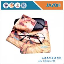 3 colores que imprimen el bolso de las gafas de microfibra