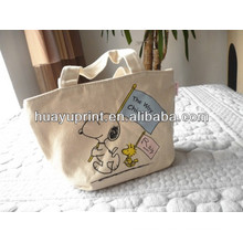 The original ecological cotton canvas bag/ Small bulk canvas bag/Portable cotton canvas bag AT-1065