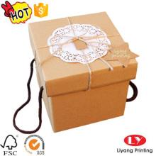 Tapas de decoración Cajas de regalo de cartón con logotipo impreso