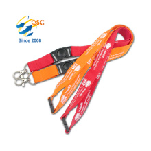 Custom Two Clips Lanyard With Logo Printed