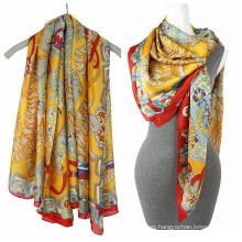 Bufanda cuadrada de la bufanda 2016 de la gasa de la impresión de la manera