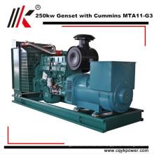 Beweglicher wassergekühlter stiller Stirlingmotorgenerator des Elektromotors 250kw und Namen der Teile des Generators für Verkauf in Indien