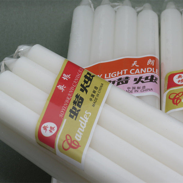 Taper Pillar White Candle