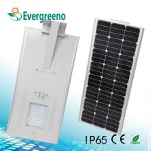 Todo en una luz de calle solar integrada LED 5 años de garantía