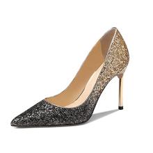 2019 High Heel Women's Pumps Girl bridesmaid Gold stiletto x19-c191 Ladies Wedding Bride Shoes Heels for women