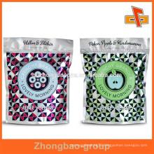 Guangzhou custom aluminum foil zip lock bag/foil ziplock bag/resealable foil bag/large aluminum foil bag for food