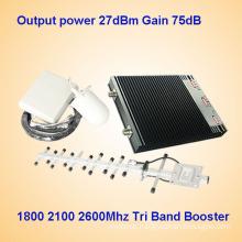 1800MHz 2100MHz 2600MHz Tri Band Cellular Signal Amplifier