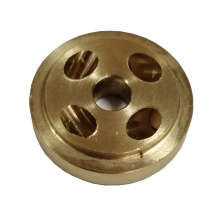 low MOQ OEM no glitch Brass spare part for door handle CNC Oblique drilling turning machining parts