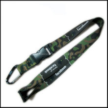Heat-Transferred Printing Camouflage Color Logo Neck Strap Lanyards