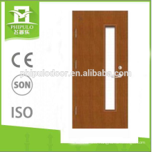 best quality new design wood glass fireproof door design on china wholesale