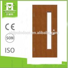 melhor qualidade novo design de vidro de madeira porta à prova de fogo projeto na china atacado
