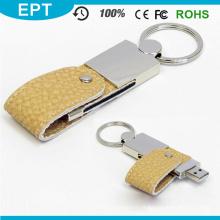 Logotipo customizável impresso couro USB Flash Drive