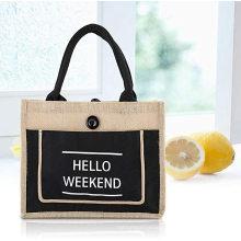 High quality reusable customized big capacity market shopping jute bag