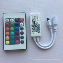 High Quality DC5-28V 24 Keys IR Remote WiFi RGBW Controller for LED Strip lights
