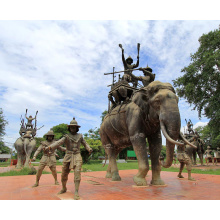 fundição de bronze fundição artesanato de metal bronze elefante tailândia para jardim