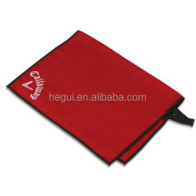 2021 microfiber waffle golf towels with custom logo grommet and hook