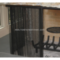 Fireplace mesh curtain