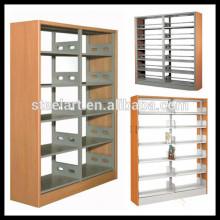 Double side metal school library modern wall metal book rack