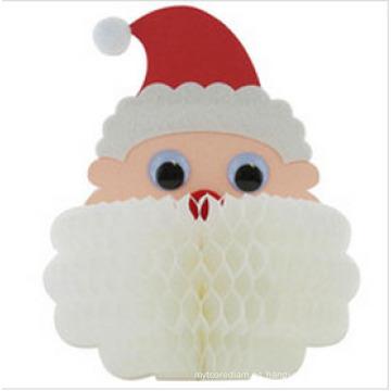 2015 Panal de Navidad decoraciones de papel panal Santa Display