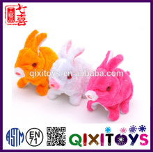 Hot selling plush electronic white rabbit