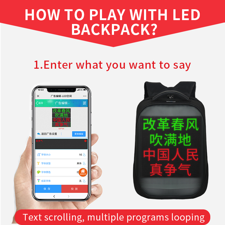 LED backpack display