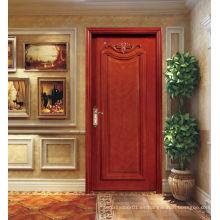 2015 nueva mano del diseño que talla la puerta de madera, puerta moderna de madera del diseño de la casa para la venta