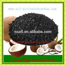 charbon actif de coquille de noix de coco pour des supports de catalyseur