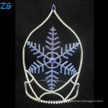 Fashion Design Blue Snowflake Tiara Christmas Crown
