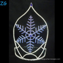 Design de moda Blue Snowflake Tiara Christmas Crown