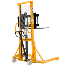 Xilin 500kg 0.5ton Capacity Straddle Legs Hand Hydraulic Forklift Manual Pallet Stacker