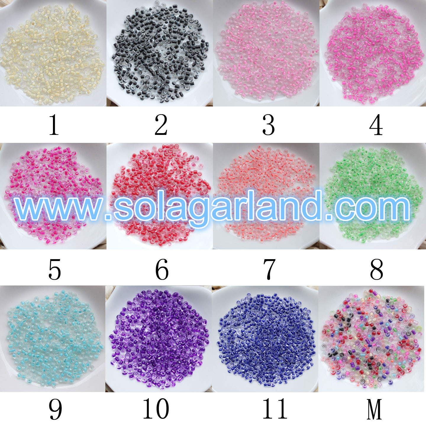 Glass Seed Beads For Diamond Jewelry
