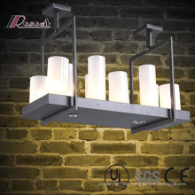 Hotel and restaurant Decorative Frosted Glass Candelabra Chandeliers